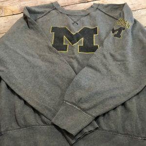 Michigan distressed sweatshirt